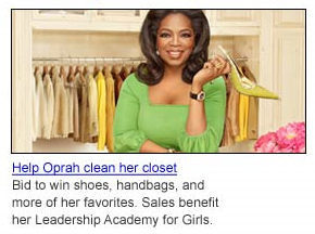 Help Oprah clean out her closet