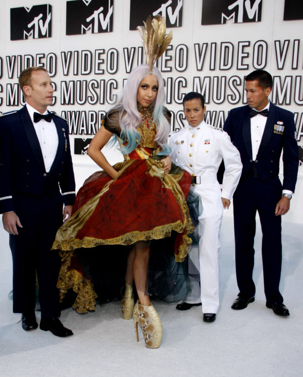 Lady Gaga at the 2010 MTV Video Music Awards held at the Nokia Theatre L.A. Live