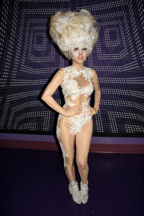 Lady Gaga figure at Madame Tussauds Hollywood Grand Opening Party for the Marvel Super Heroes 4D Theater, Madame Tussauds Hollywood, Hollywood, CA 07-10-14