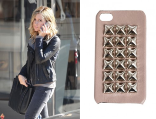 Ashley Tisdale uses Pink Studded iPhone Cover