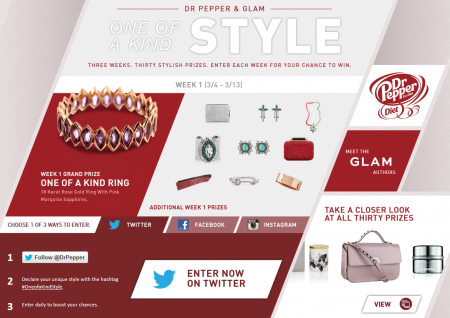 Dr Pepper & Glam One of a Kind Style
