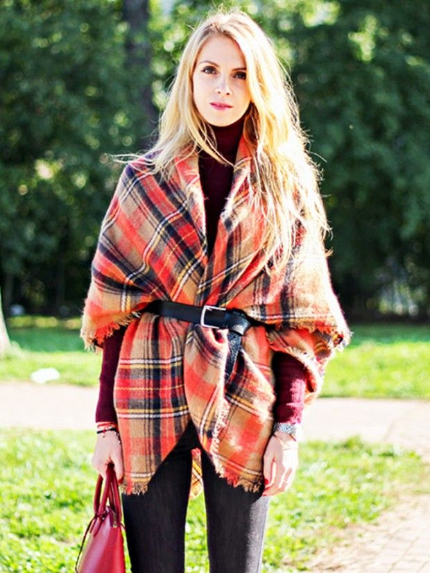 5 Stylish Ways To Wear A Blanket Scarf Steal The Style