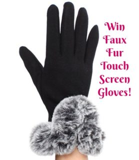 Free Stuff Friday: Win Faux Fur Touch Screen Gloves!