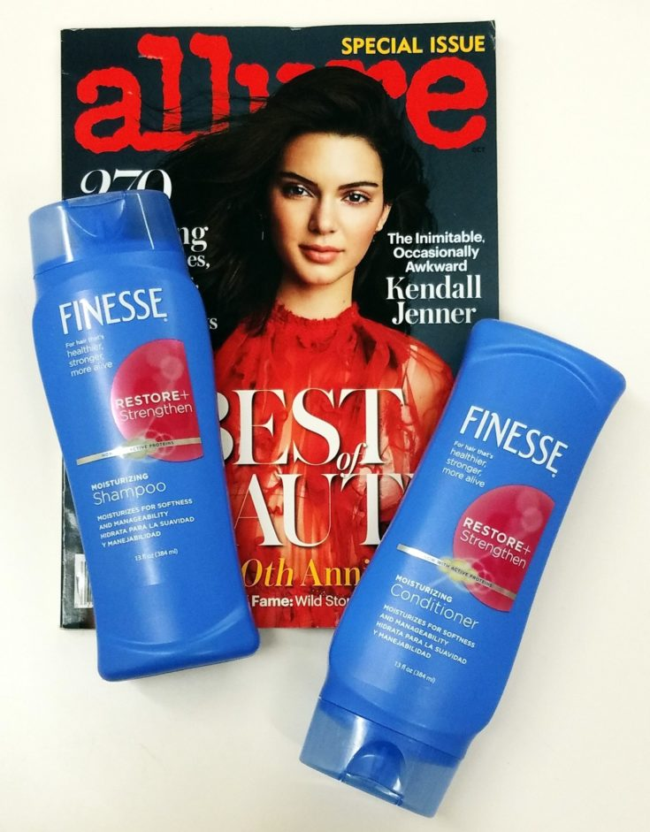 Kendall Jenner loves Finesse Shampoo & Conditioner as seen in Allure Magazine
