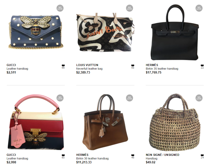 Handbags for sale on Vestiaire Collective