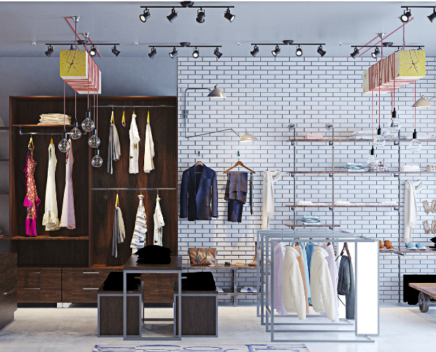 interior of a resale luxury brand store